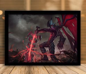 Poster com Moldura - League of Legends LoL Aatrox