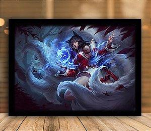 Poster com Moldura - League of Legends LoL Ahri