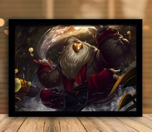 Poster com Moldura - League of Legends LoL Bardo