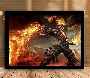 Poster com Moldura - League of Legends LoL Brand