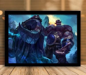 Poster com Moldura - League of Legends LoL Braum