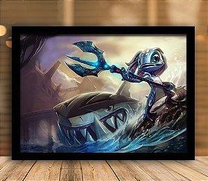 Poster com Moldura - League of Legends LoL Fizz