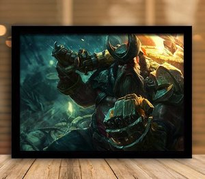 Poster com Moldura - League of Legends LoL Gangplank