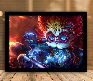 Poster com Moldura - League of Legends LoL Heimerdinger