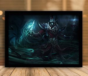 Poster com Moldura - League of Legends LoL Karthus