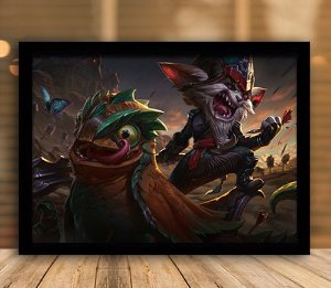 Poster com Moldura - League of Legends LoL Kled