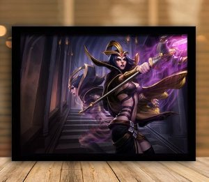 Poster com Moldura - League of Legends LoL Leblanc