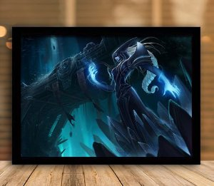 Poster com Moldura - League of Legends LoL Lissandra