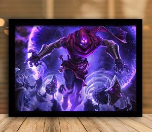 Poster com Moldura - League of Legends LoL Malzahar