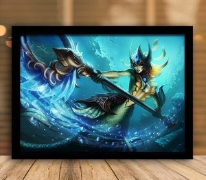 Poster com Moldura - League of Legends LoL Nami