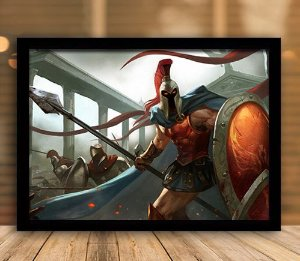 Poster com Moldura - League of Legends LoL Pantheon