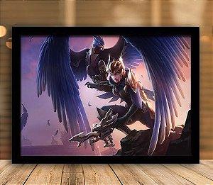 Poster com Moldura - League of Legends LoL Quinn