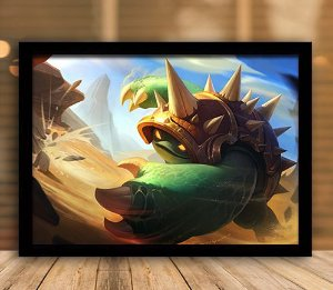 Poster com Moldura - League of Legends LoL Rammus