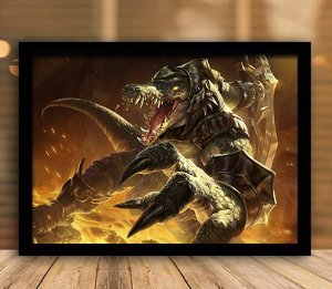 Poster com Moldura - League of Legends LoL Renekton