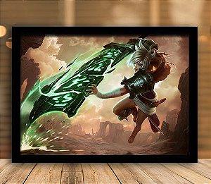 Poster com Moldura - League of Legends LoL Riven