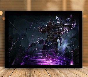 Poster com Moldura - League of Legends LoL Shen