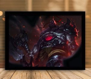 Poster com Moldura - League of Legends LoL Sion