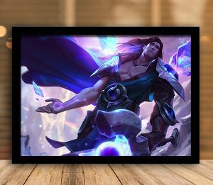 Poster com Moldura - League of Legends LoL Taric