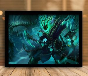 Poster com Moldura - League of Legends LoL Thresh