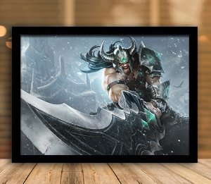 Poster com Moldura - League of Legends LoL Tryndamere