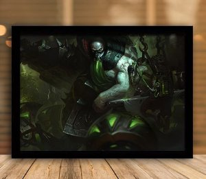 Poster com Moldura - League of Legends LoL Urgot