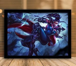 Poster com Moldura - League of Legends LoL Vayne
