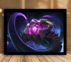 Poster com Moldura - League of Legends LoL Velkoz
