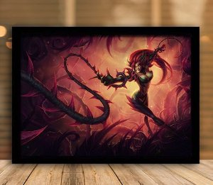 Poster com Moldura - League of Legends LoL Zyra