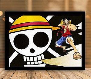 Poster com Moldura - One Piece   Mo.05