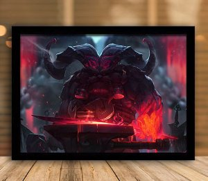Poster com Moldura - League of Legends LoL Ornn