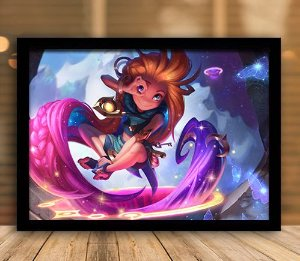 Poster com Moldura - League of Legends LoL Zoe