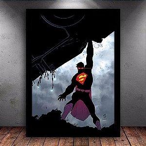 Poster com Moldura - Superman The Rage