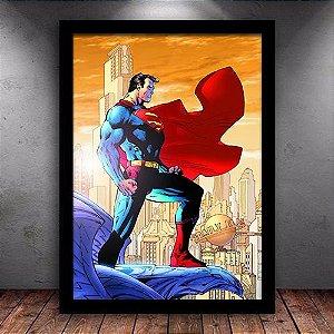 Poster com Moldura - Superman