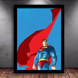 Poster com Moldura - Superman Minimalista Mo.2