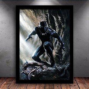 Poster com Moldura - Pantera  Negra