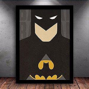 Poster com Moldura - Batman Minimalista