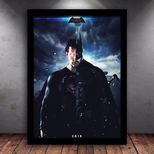 Poster com Moldura - Batman VS Superman