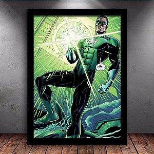Poster com Moldura - Lanterna Verde