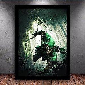 Poster com Moldura - Arqueiro Verde Mo.2
