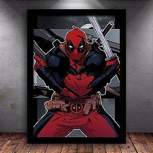 Poster com Moldura - Deadpool Mo.4