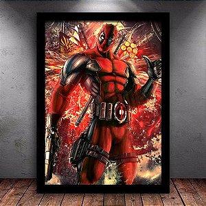 Poster com Moldura - Deadpool Mo.2