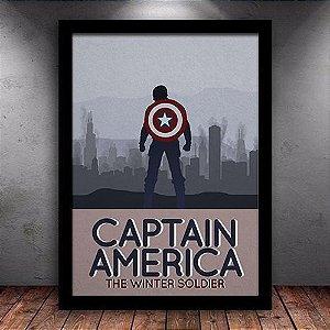 Poster com Moldura - Capitão América Soldado Invernal