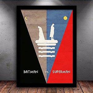 Poster com Moldura - Batman VS Superman Minimalista