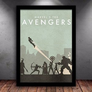 Poster com Moldura - Marvel Avengers