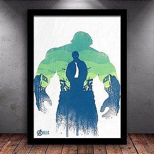 Poster com Moldura - Hulk Vingadores