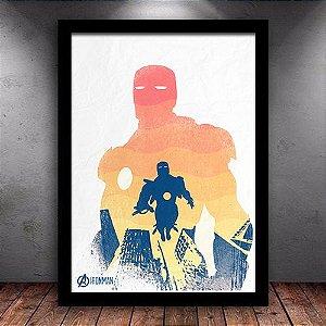 Poster com Moldura - Homem de Ferro Vingadores