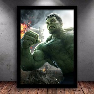 Poster com Moldura - Incrível Hulk