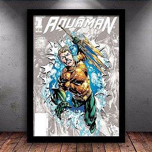 Poster com Moldura - Aquaman