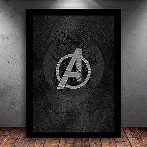 Poster com Moldura - Avengers Mo.3