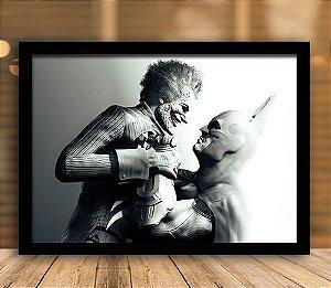 Poster com Moldura - Batman Vs Coringa